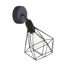 Black Fermaluce EIVA with Diamond lampshade, adjustable joint and lamp holder IP65 waterproof Creative-Cables