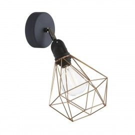 Sconce Fermaluce EIVA with copper Diamond lampshade, adjustable joint and lamp holder IP65 waterproof Creative-Cables