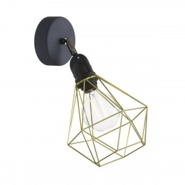 Sconce Fermaluce EIVA with brass Diamond lampshade, adjustable joint and lamp holder IP65 waterproof Creative-Cables