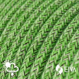 Outdoor round electric cable covered in Cotton Pixel Bronte SX08 -suitable for IP65 EIVA system Creative-Cables