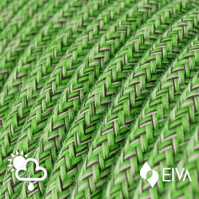 Zewnętrzny okrągły przewód w zielonym oplocie Cotton Pixel Bronte SX08 - IP65 odpowiedni do systemu EIVA Creative-Cables