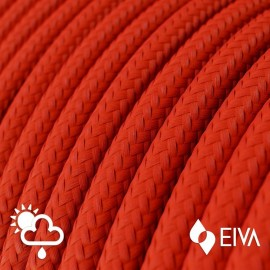 Red Rayon SM09 - IP65 red braided outer round cable suitable for EIVA Creative-Cables system