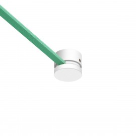 White Wooden canopy for string light cable and Filé system. Made in Italy Creative-Cables