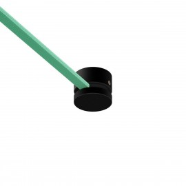 Black Wooden canopy for string light cable and Filé system. Made in Italy Creative-Cables
