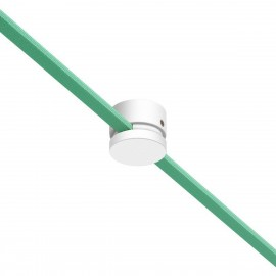 Filé system biały drewniany uchwyt do płaskiego przewodu Creative-Cables