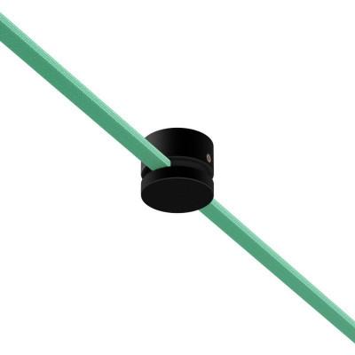 Filé system czarny drewniany uchwyt do płaskiego przewodu Creative-Cables