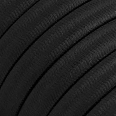 Płaski przewód w czarnym oplocie Black Rayon SM04 odpowiedni do systemu Filé i Lumet Creative-Cables