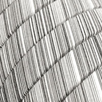 Płaski przewód w czarno białym oplocie Black Mélange Cotton fabric ECC37 odpowiedni do systemu Filé i Lumet Creative-Cables