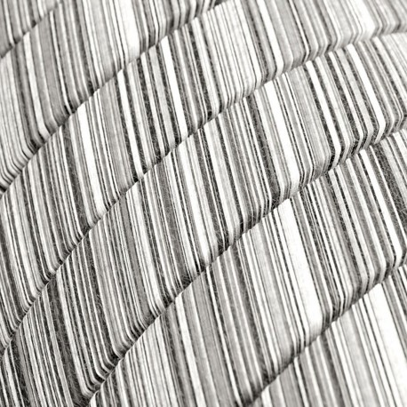 Black Mélange Cotton fabric ECC37 black&white braided flat cable suitable for Filé and Lumet systems Creative-Cables