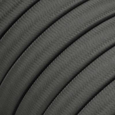 Płaski przewód w szarym oplocie Rayon fabric Grey CM03 odpowiedni do systemu Filé i Lumet Creative-Cables