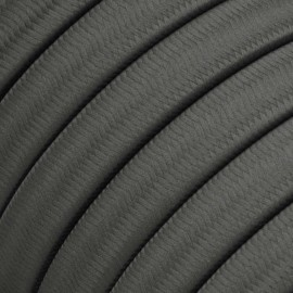 Rayon fabric Grey CM03 grey braided flat cable suitable for Filé and Lumet systems Creative-Cables