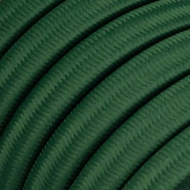 Rayon fabric Dark Green CM21 dark green braided flat cable suitable for Filé and Lumet systems Creative-Cables
