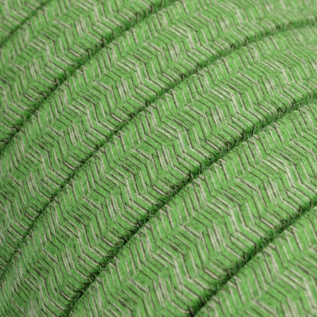Cotton fabric Pixel Bronte CX08 green braided flat cable suitable for Filé and Lumet systems Creative-Cables