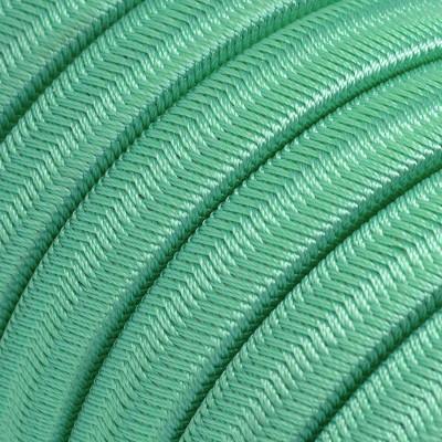Płaski przewód w miętowym oplocie Rayon fabric Opal CH69 odpowiedni do systemu Filé i Lumet Creative-Cables