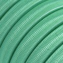 Rayon fabric Opal CH69 mint braided flat cable suitable for Filé and Lumet systems Creative-Cables