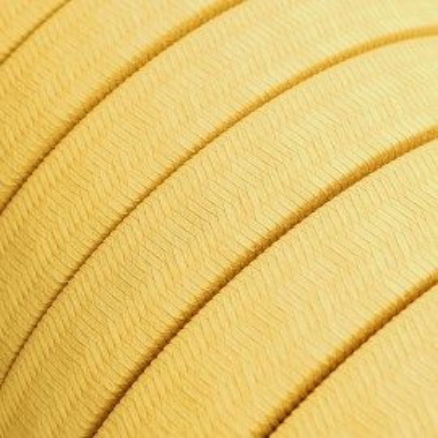 Płaski przewód w żółtym oplocie Rayon fabric Yellow CM10 odpowiedni do systemu Filé i Lumet Creative-Cables