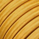 Rayon fabric Gold CM05 golden braided flat cable suitable for Filé and Lumet systems Creative-Cables