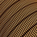 Rayon fabric ZigZag Black-Whiskey CZ22 braided flat cable suitable for Filé and Lumet systems Creative-Cables