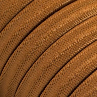 Płaski przewód w brązowym oplocie Rayon fabric Whiskey CM22 odpowiedni do systemu Filé i Lumet Creative-Cables