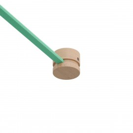 Wooden terminal block for string light cable and Filé system. Made in Italy Creative-Cables