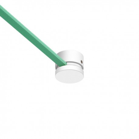 White Wooden terminal block for string light cable and Filé system. Made in Italy Creative-Cables