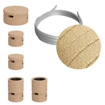 Filé System Wiggle Kit - zestaw z 3m przewodem świetlnym i 5 drewnianymi elementami do użytku wewnątrz Creative-Cables