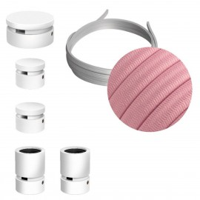 Filé System Wiggle Kit - zestaw z 3m przewodem świetlnym i 5 białymi lakierowanymi drewnianymi elementami Creative-Cables
