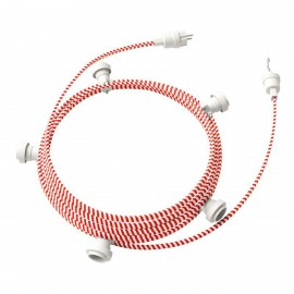 Ready-to-use 7,5m Lumet String Light with Kit with 5 white Lamp Holders, Hook and Plug Creative Cables