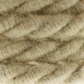 XL electrical cord, electrical cable 3x0,75. Rough jute fabric covering. Diameter 16mm Creative Cables