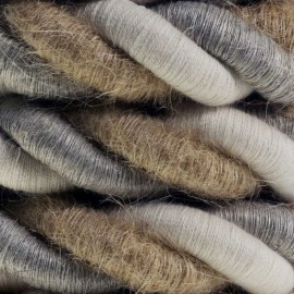 2XL electrical cord, electrical cable 3x0,75 linen cotton fabric jute Country Diameter 24mm Creative Cables