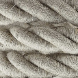 2XL electrical cord, electrical cable 3x0,75. Natural linen fabric covering. Diameter 24mm Creative Cables