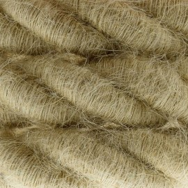 2XL electrical cord, electrical cable 3x0,75. Rough jute fabric covering. Diameter 24mm Creative Cables