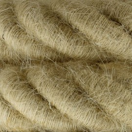 3XL electrical cord, electrical cable 3x0,75. Rough jute fabric covering. Diameter 24mm Creative Cables