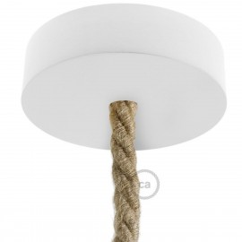 Wooden white ceiling rose kit for XL cord Creative-Cables