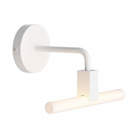 Minimal wall lamp with S14d Syntax socket and metal bent extension pipe Creative-Cables