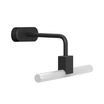 Czarny Minimalistyczny kinkiet z gniazdem S14d Syntax i metalową wygiętą rurą przedłużającą Creative-Cables