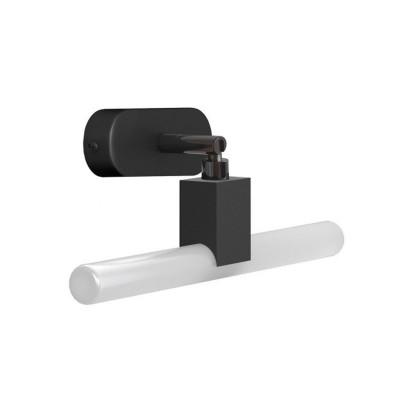 Fermaluce S14 System czarna regulowana natynkowa lampa z gniazdem S14d i owalną drewnianą rozetą sufitową Creative-Cables