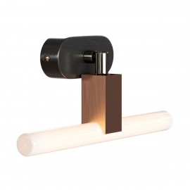 Fermaluce S14 System adjustable surface-mounted lamp with S14d socket and oval wooden ceiling rosette Creative-Cables