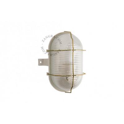 Wall / ceiling waterproof lamp, glass shade ight.o.003.001 E27 Zangra