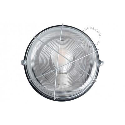 Bakelite wall / ceiling lamp, glass shade light.o.123.b E27 Zangra