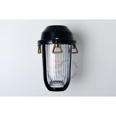 Lampa ścienna / kinkiet czarny mosiężny light.o.005.b.001, E27 Zangra