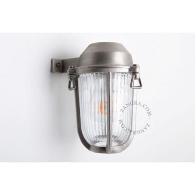 Lampa ścienna / kinkiet  niklowany mosiądz light.o.005.002, E27 Zangra