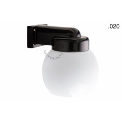 Wall lamp, porcelain with glass shade, light.o.004.b.glass020 Zangra