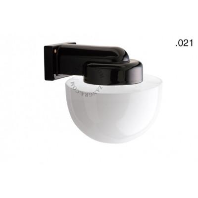 Wall lamp, porcelain with glass shade, light.o.004.b.glass021 Zangra