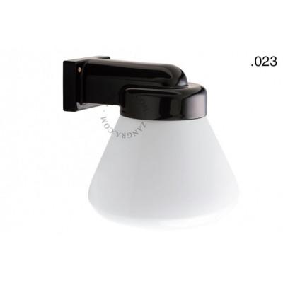 Wall lamp, porcelain with glass shade, light.o.004.b.glass004 Zangra
