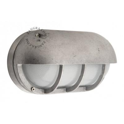 "Aluminum lamp, ""bulkhead"" light fitting .o.007 Zangra"