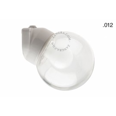 Lampa ścienna porcelana ze szklanym kloszem light.o.006.wa.w.s.glass012 Zangra