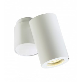 Barlo I Adjustable Ceiling Lamp White Tube
