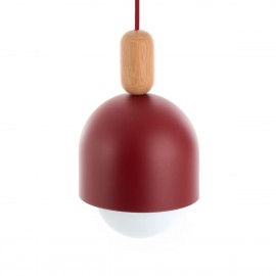 oft Ovoi burgundy pendant lamp Kolorowe Kable