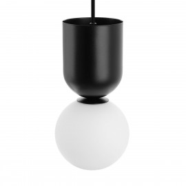 Ceiling lamp LUOTI black pendant lamp with a glass shade UMMO